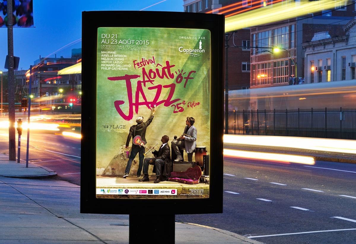 Mairie de Capbreton Août of jazz campagne de communication