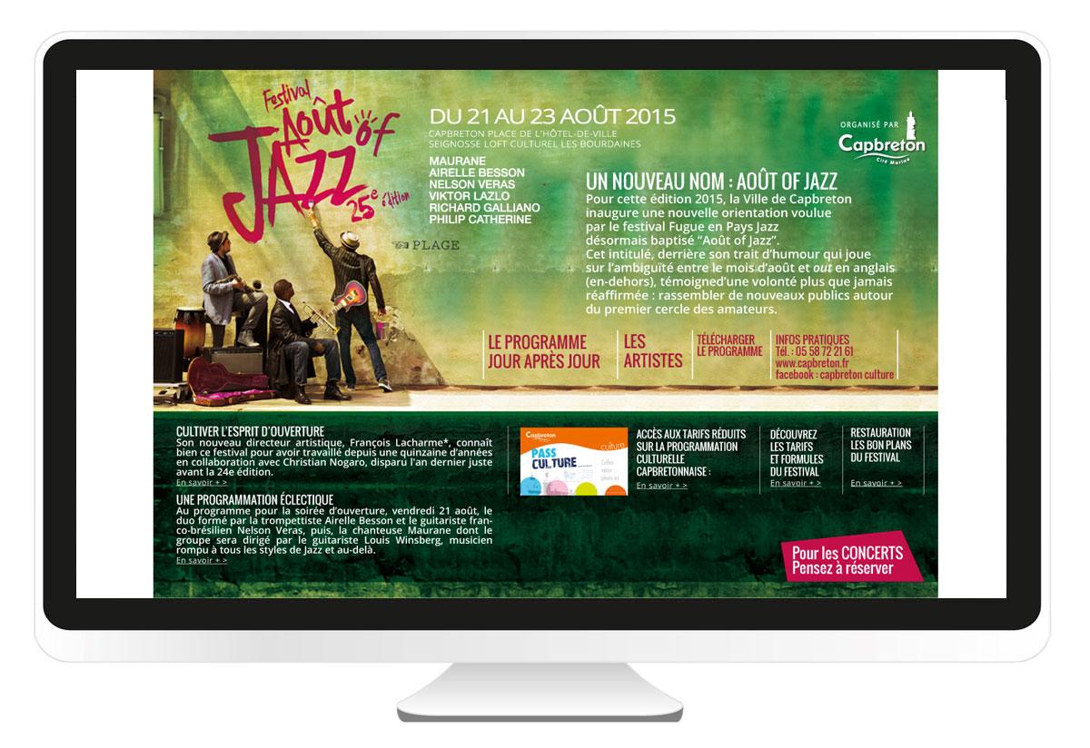 Août of jazz site internet