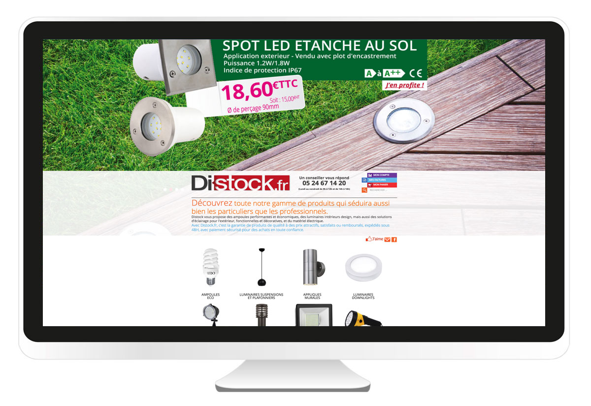 Distock.fr création site internet