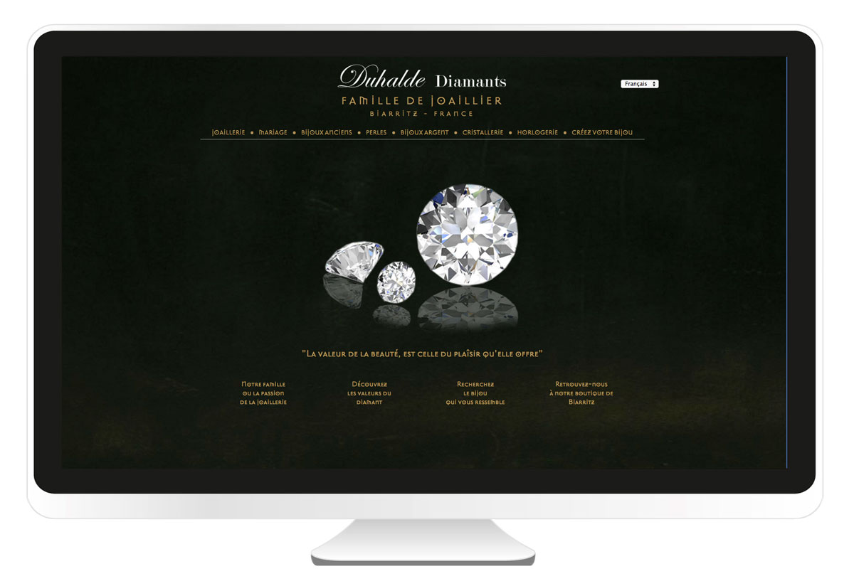 Duhalde Diamants site internet