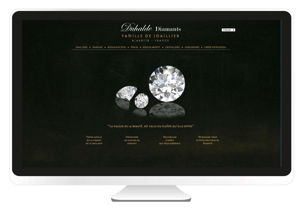 Duhalde Diamants site internet