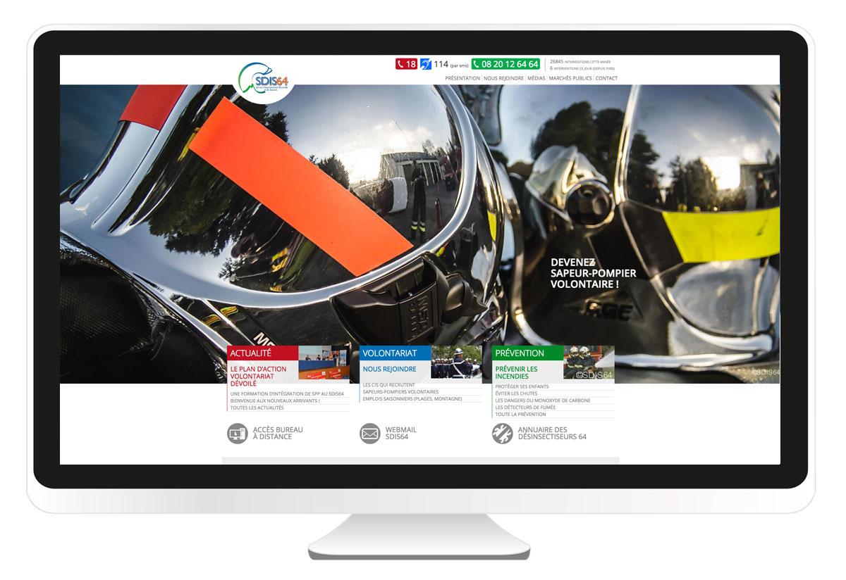 SDIS64.fr création site internet