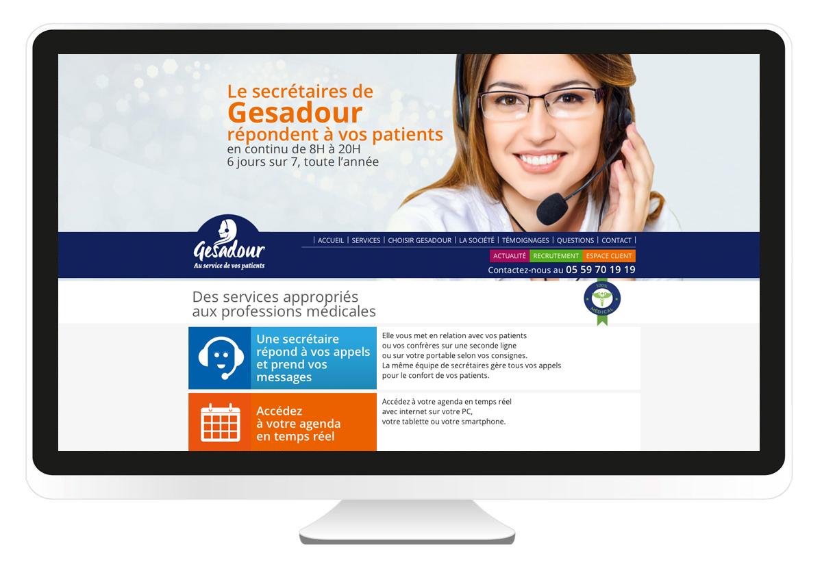 Gesadour.fr création du site internet