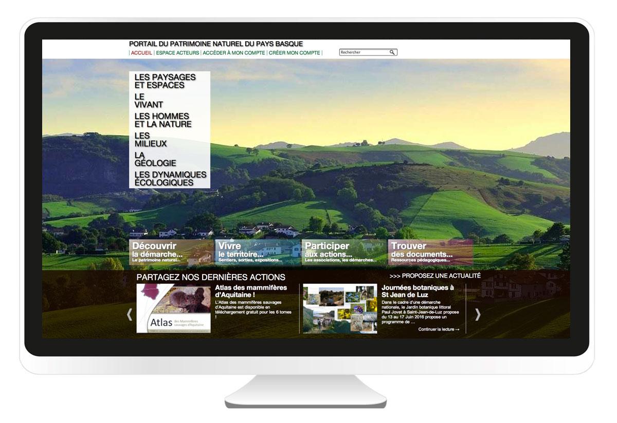 Conseil des Elus du Pays basque,  création site internet