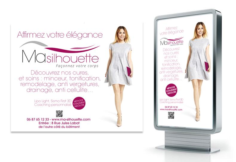 Ma-silhouette.com Campagne de communication