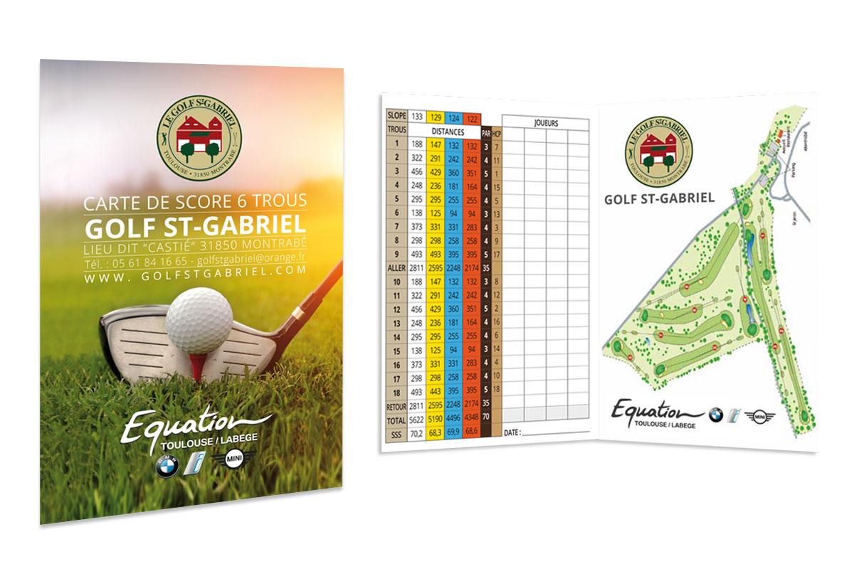 Golf St Gabriel plaquette