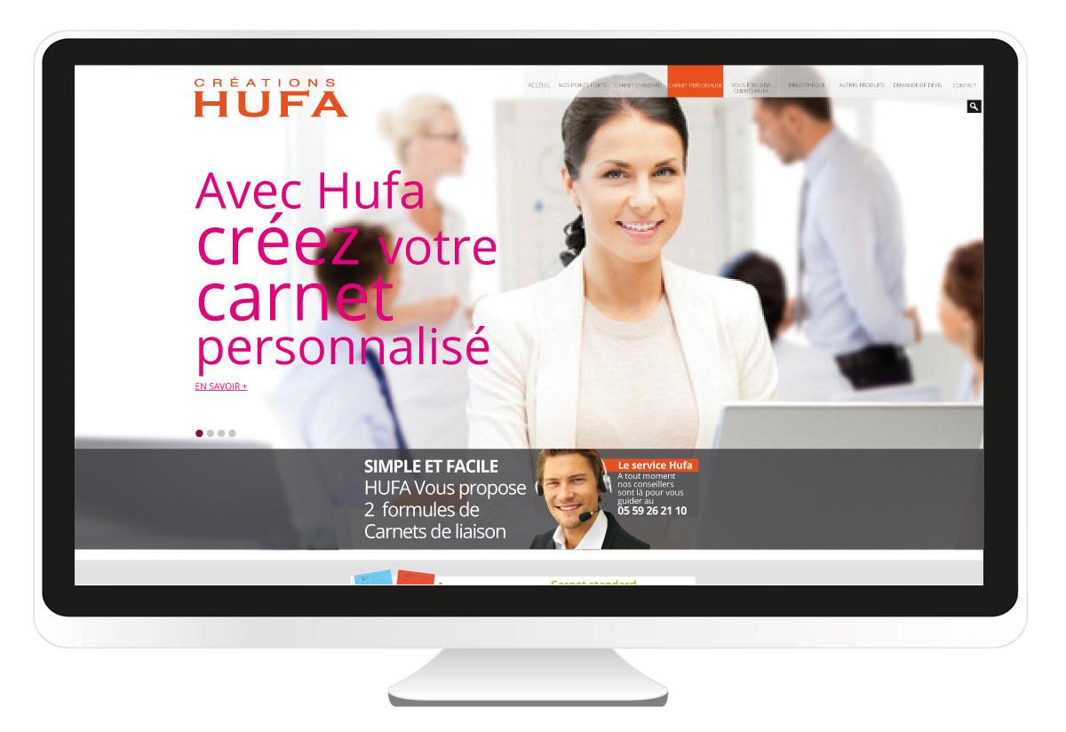 création site internet Hufa.fr BBou agence de communication web pays basque bayonne anglet biarritz