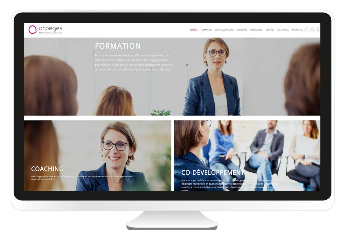 Arpéges création site internet